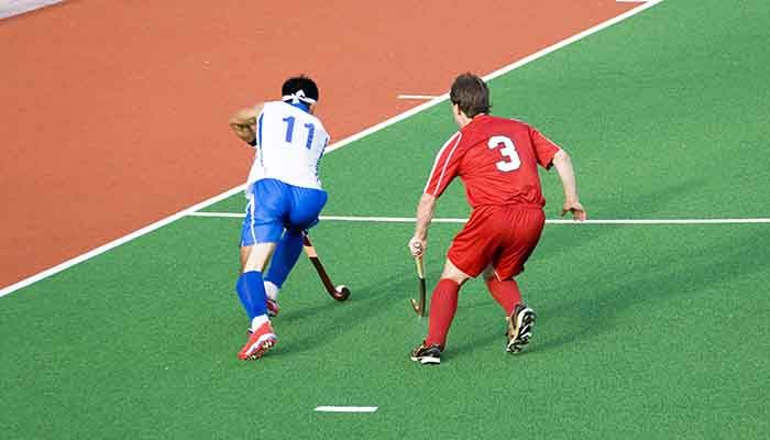 Field hockey players in action at the Sultan Azlan Shah Cup tournament held in Ipoh, Malaysia between 5-13 May 2007.